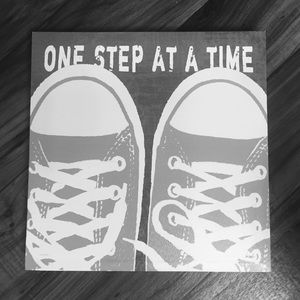 One step at a time Canvas print